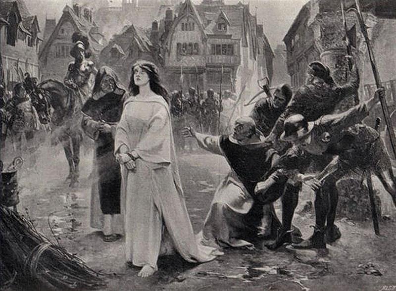 За что сожгли на костре Жанну д'Арк