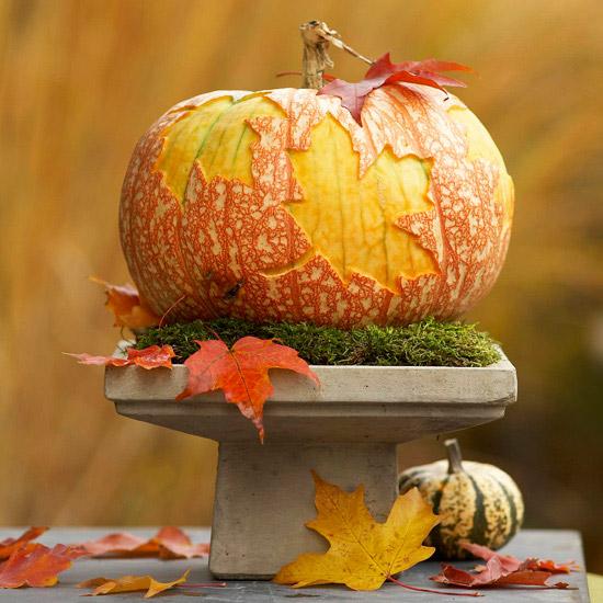 Поделка на день осени из тыквы