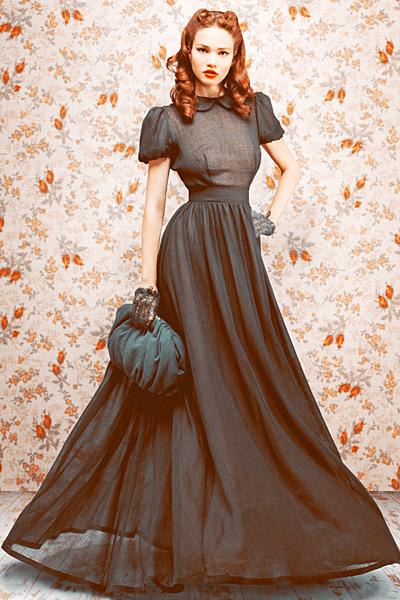 Платье в стиле винтаж