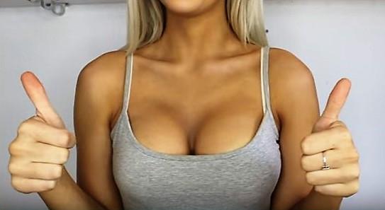 Натали рассказала и показала, как визуально увеличить грудь на целых два размера при помощи обычной пудры и средств для контурирования.