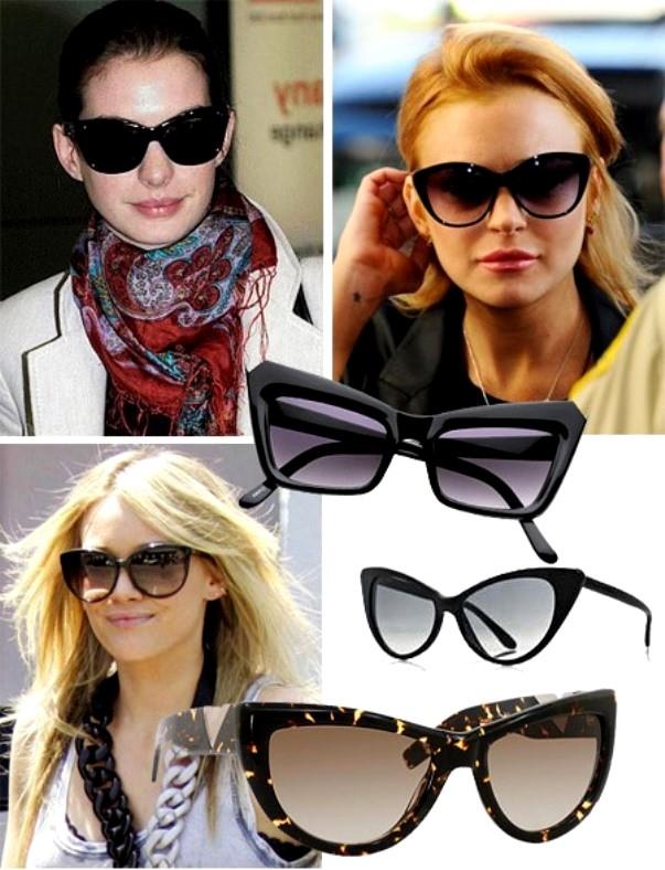 Очки в форме кошачьих глаз снова в моде