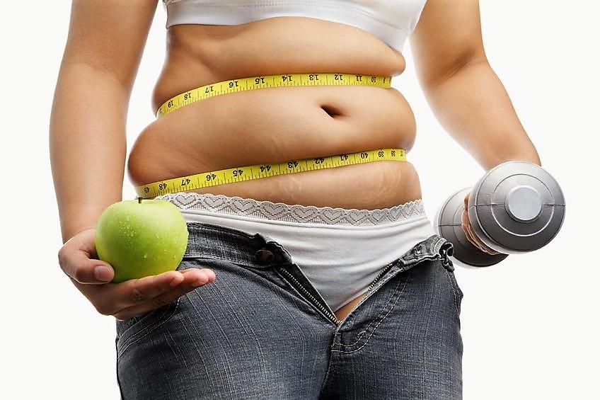 Сжигание подкожного жира с помощью правильного питания и физических упражнений