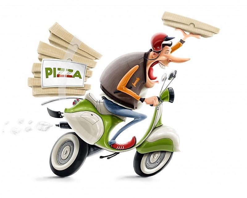 Самая быстрая в мире доставка пиццы