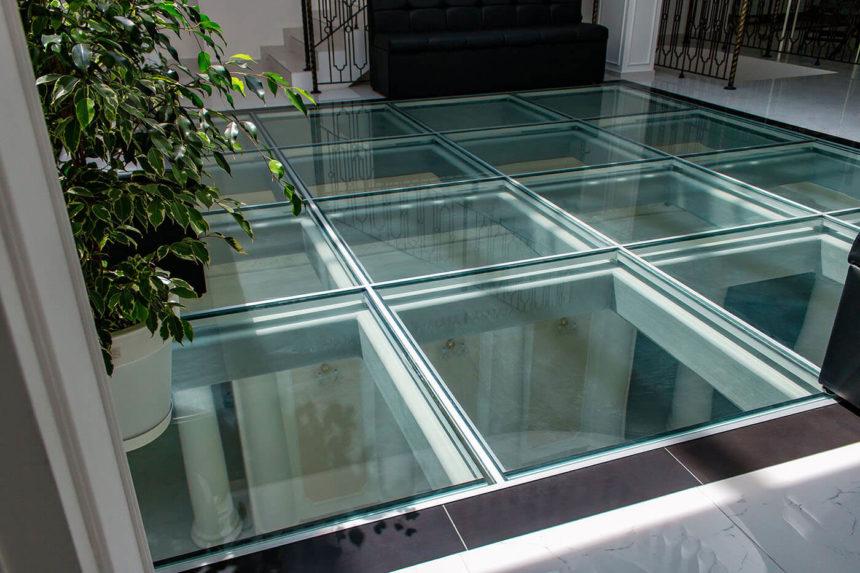 использование стекла в дизайне помещений